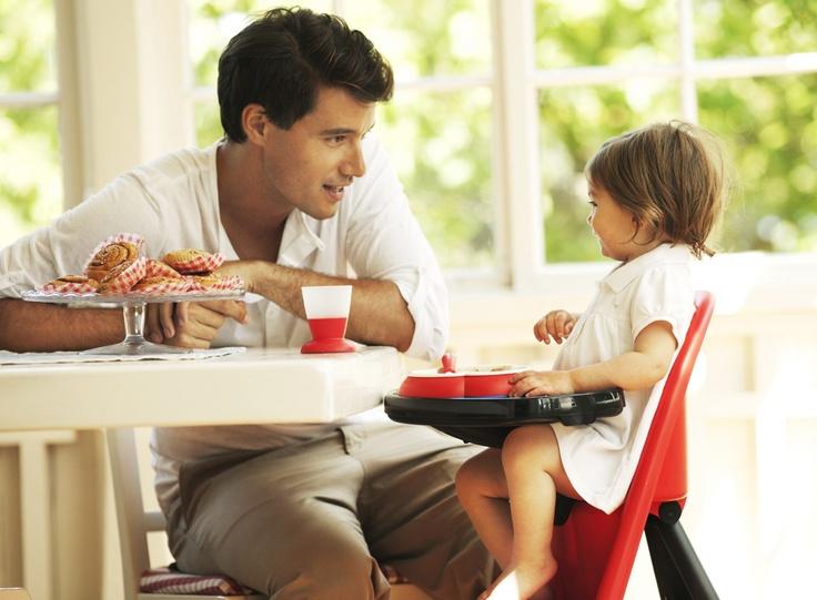 BABYBJÖRN matstol, röd - Bonti