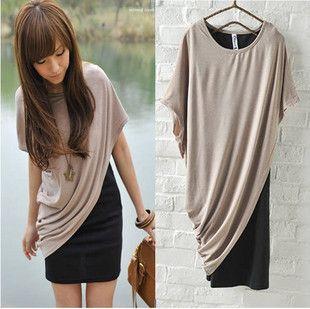 Dresses :: Sleeveless :: Spring new Korean women's sweet 896085 leisure oblique piece T shirt - try to DIY
