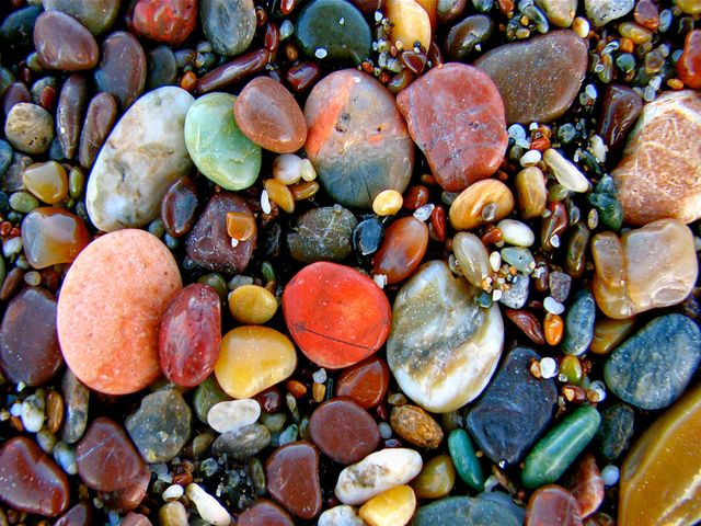 Beach stones - Where is this???  I would go just for the rocks!