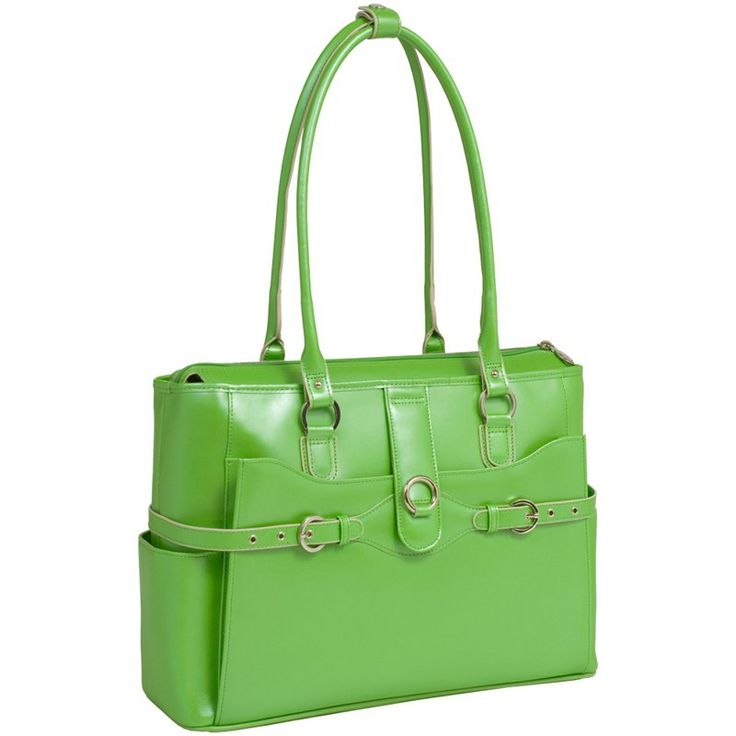 McKlein USA Willow Springs Leather Ladies Briefcase - Red Green - 96561
