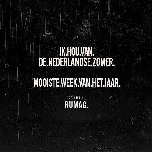Nederlandse zomer #rumag