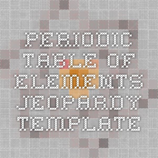 45 best chemistry and physics images on pinterest chemistry periodic table of elements jeopardy template urtaz Gallery