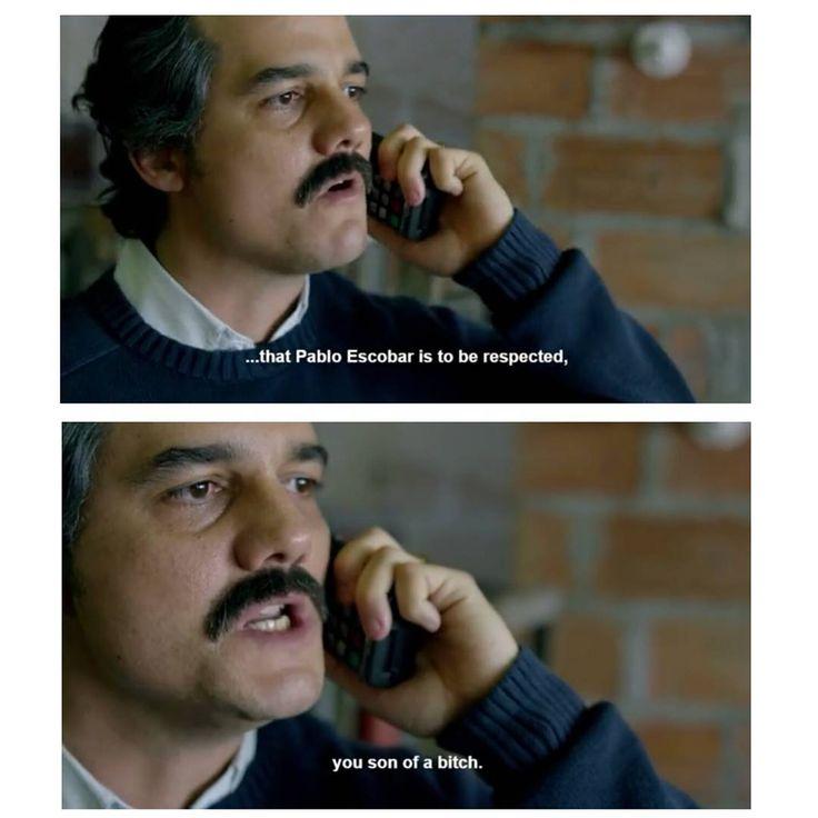 A Pablo Escobar se le respeta. Narcos