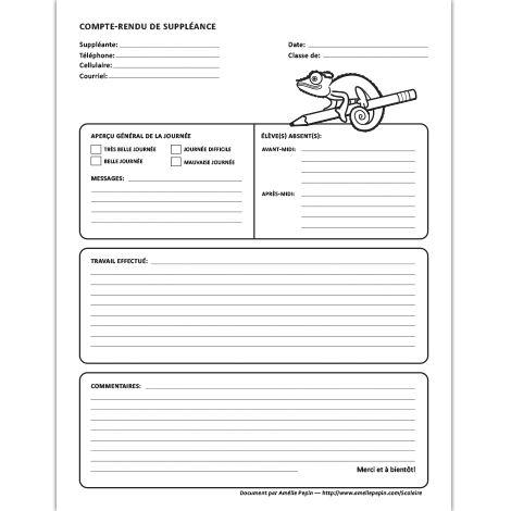 Fichier PDF et document Word (.doc) En noir et blanc seulement 1 page  Cette fiche est disponible en document PDF et en document Word pour la compléter à l
