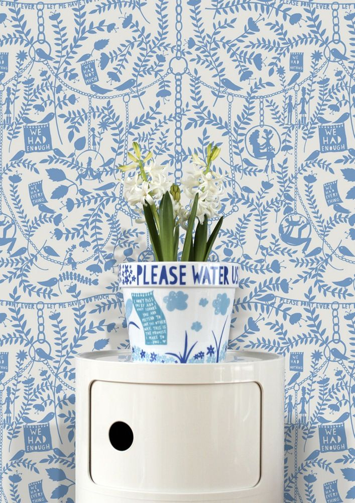 Image Of We Had Everything Wallpaper   China Blue