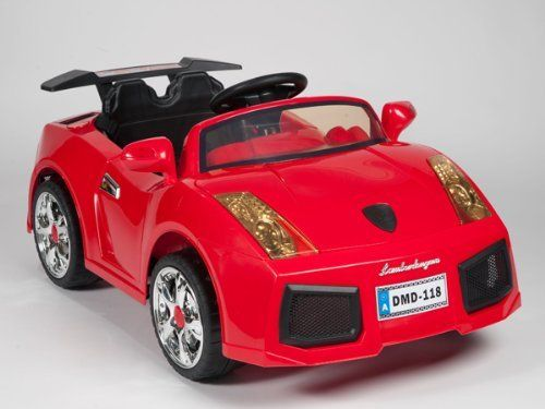 NEW 2013 LAMBORGHINI DMD STYLE RIDE ON 2 MOTORS SPEED BATTERY POWERED WHEELS KIDS TOY CAR - WITH REMOTE CONTROL MP3 CONNECTION by ZH. $284.95
