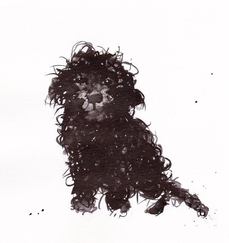 Cockapoo #dog #doglovers #dogoftheday #cockapoo #art #love #uniquegift #originalart #blackdog #pets #petdogs #cockapoodog #weird #weirdart #weirddog #etsyseller #creature #creaturefeature