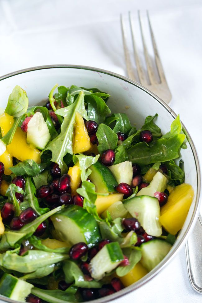Mango-Granatapfel-Salat | http://herznah.net/2014/07/14/mango-granatapfel-salat/