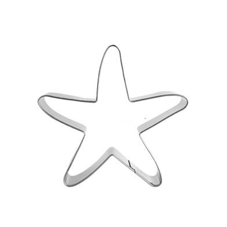 [Visit to Buy] Starfish Pastry Moulds Pancake Press Biscuit Cookie Fondant Cutter Tools Dessert Stainless Baking Accessories Sale 11.11 DZ181 #Advertisement
