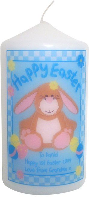 40 best easter gifts images on pinterest easter gift messages personalised happy easter candle bunny perfect easter gift or present for mum dad brother sister son daughter grandad grandma nanny friends negle Image collections