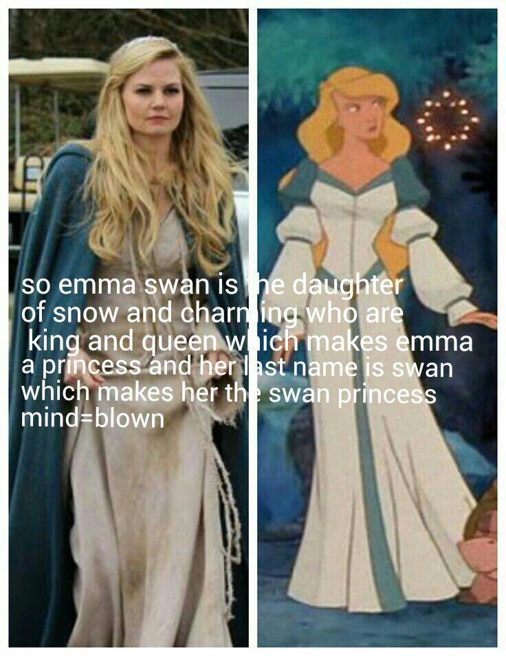 Swan princess. Well look at that.