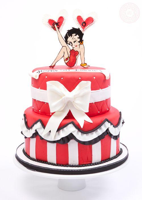 Betty Boop 50th Birthday Cake   Jenna Rae Cakes