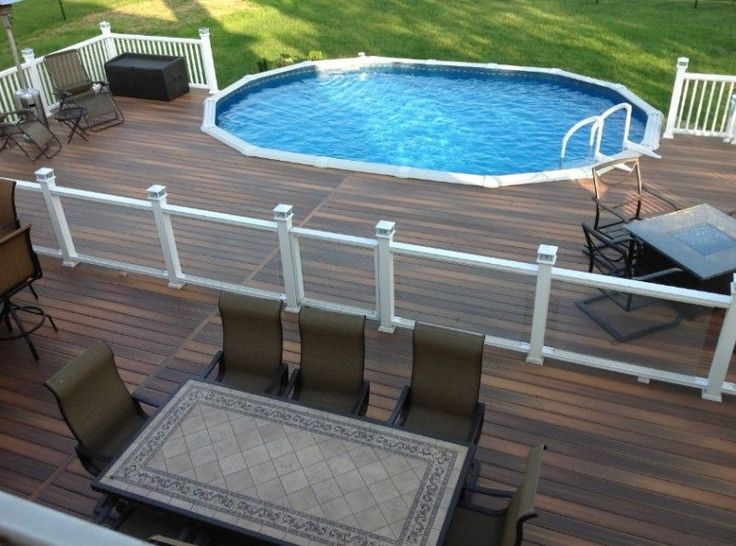 Rectangle Above Ground Pool Decks best 10+ pool with deck ideas on pinterest | deck with above