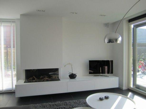 Gashaard met tv meubel Hooijer haarden vloeren