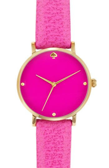 hot pink kate spade new york watch