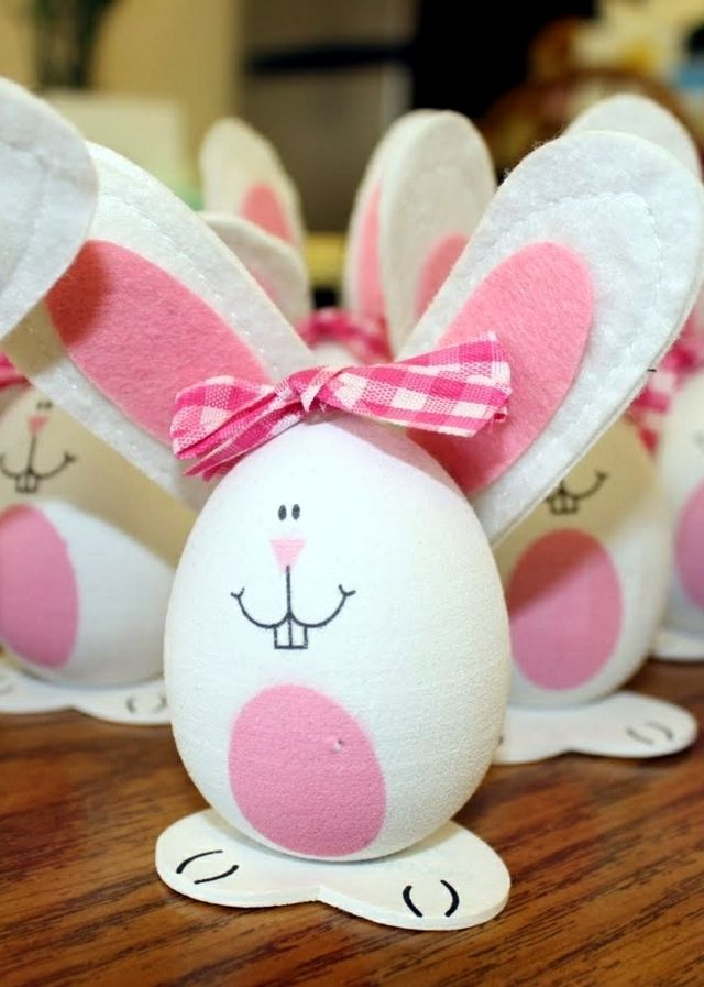 Funny Easter Bunny #Easter #Eggs #Craft