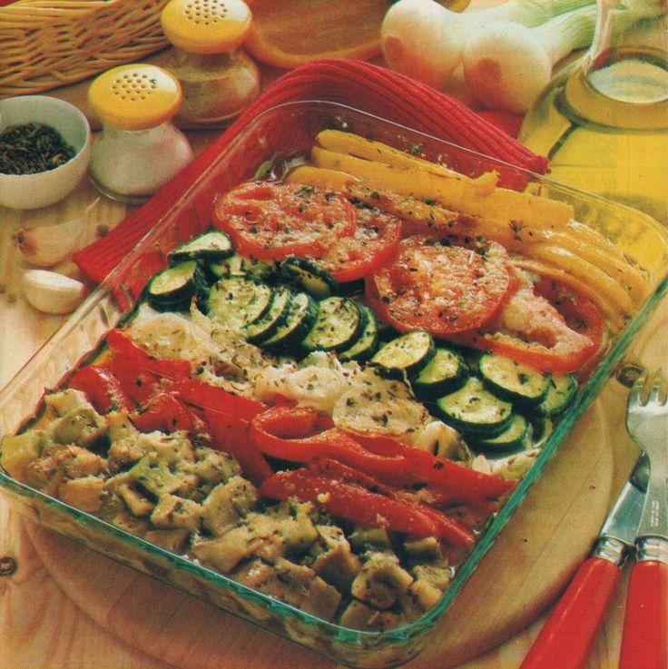 Recette d'antan sans gluten et sans lactose : Légumes d'été au four