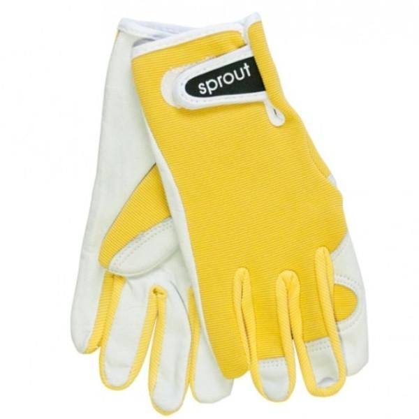 Ladies Goatskin and Lycra Gloves- Sprout brand - Yellow