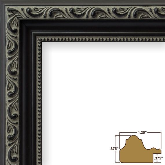 Craig Frames 11x17 Inch Antique Black Picture Frame Ancien Ornate 101871117 Custom Picture Frame Picture Frame Store Black Picture Frames