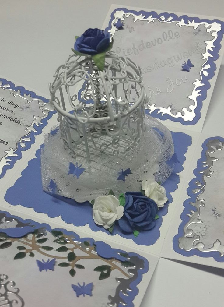 close up of birdcage inside exploding box my own creations pinterest box exploding boxes. Black Bedroom Furniture Sets. Home Design Ideas
