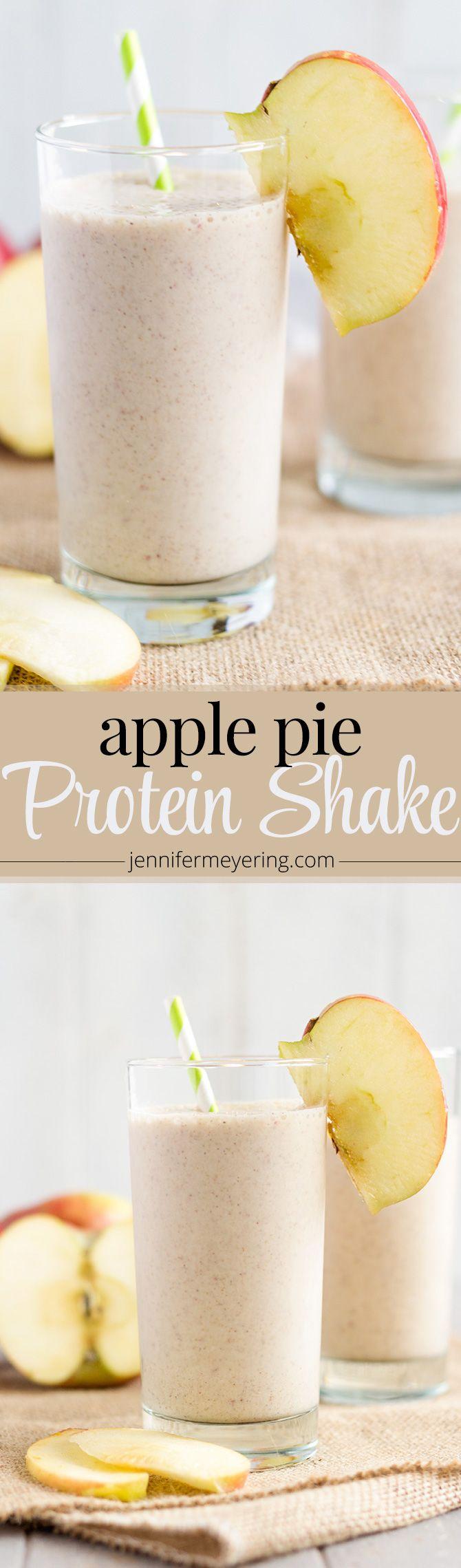 Apple Pie Protein Smoothie   JenniferMeyering.com                                                                                                                                                                                 More