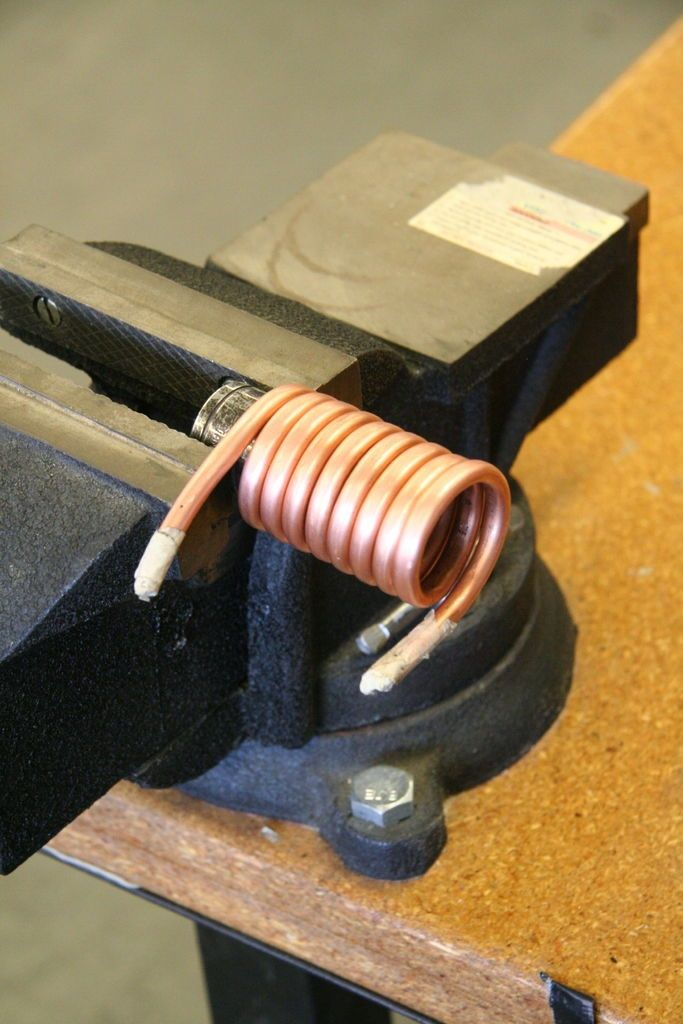 Bend copper tubing without crushing it by first filling it with salt or sand. - rugged life