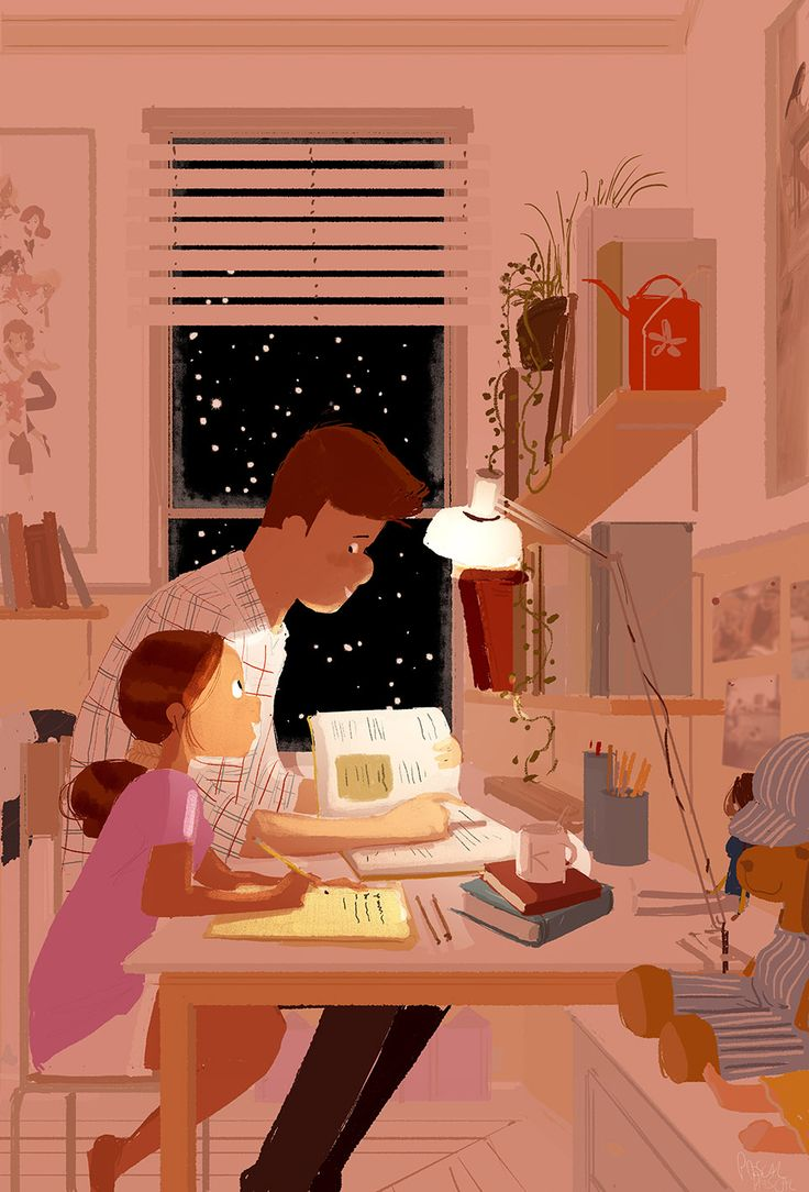 Pascal Campion, Home works. #pascalcampion #Father #Daughter...