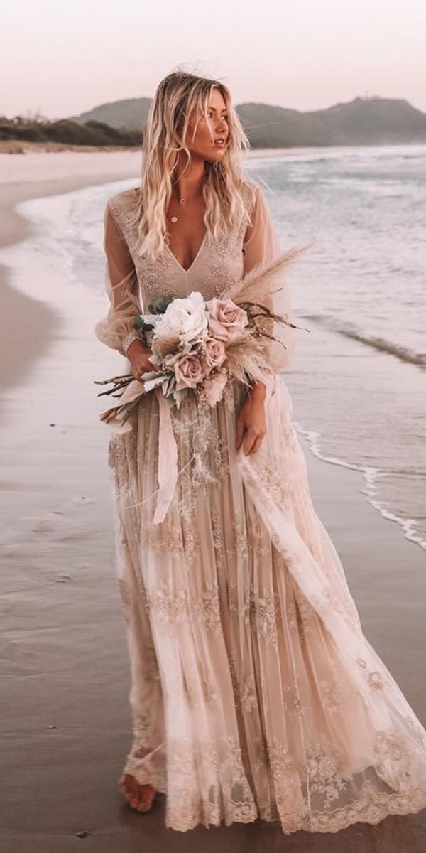 30 Wonderful Beach Wedding Dresses For Hot Weather Beach Wedding Dress Boho Wedding Dress Guide Boho Wedding