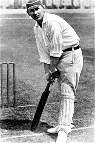 Lowest scores in Test cricket in an innings (© England's Wilfred Rhodes in action with the bat. Rhodes did all the damage with the ball against Australia.)