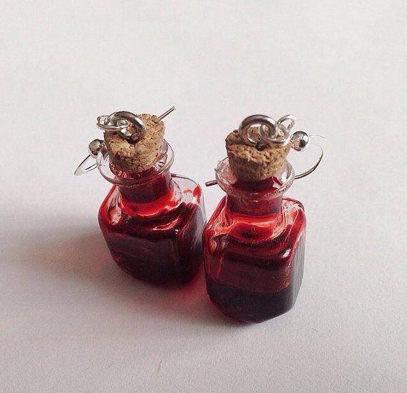 Blood Jar Earrings by TeacupRose on Etsy