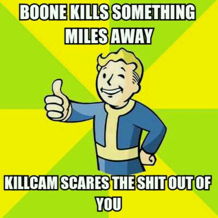 Seriously! I'm getting nearly killed by Legionaries - which Boone should be helping with kthx - and all of a sudden slo-mo of some overkill Boone committed like, yeah, 2 miles away.  Can't tell you how many late nights i spent jumping in my seat because of this. o__O