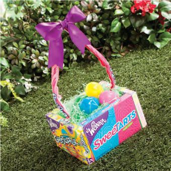 """Edible Easter Basket--the solution to """"what to do with all these baskets"""""""