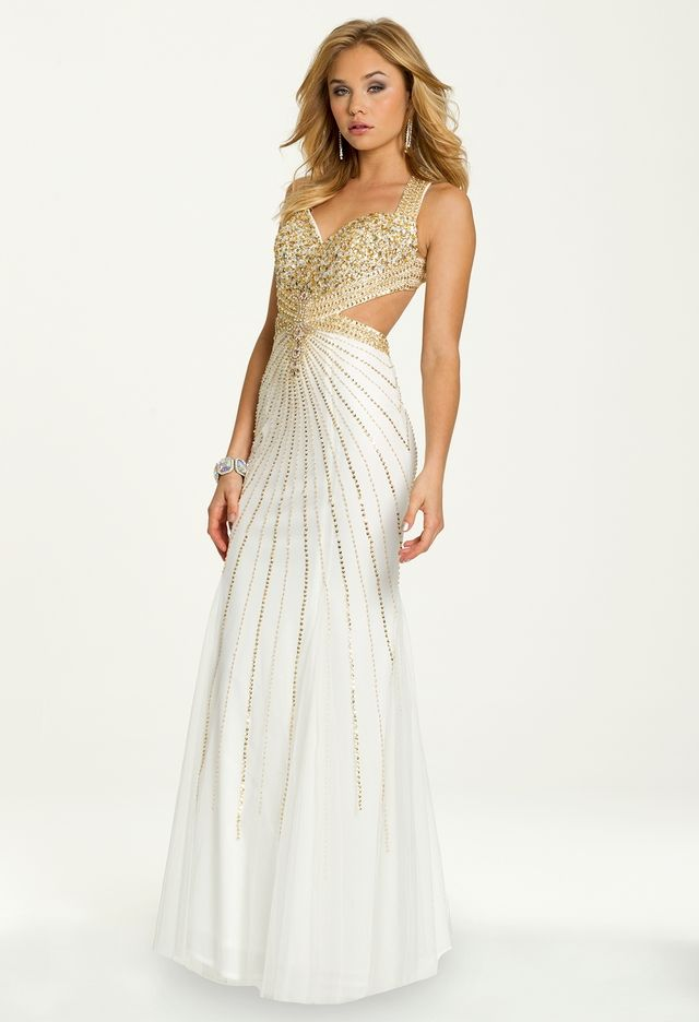 Beaded Cut Out Dress from Camille La Vie and Group USA ...