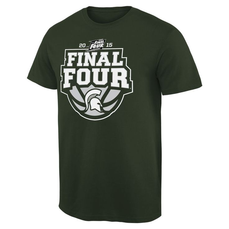 Michigan State Spartans 2015 NCAA Men's Basketball Tournament Final Four Bound Crafted T-Shirt - Green