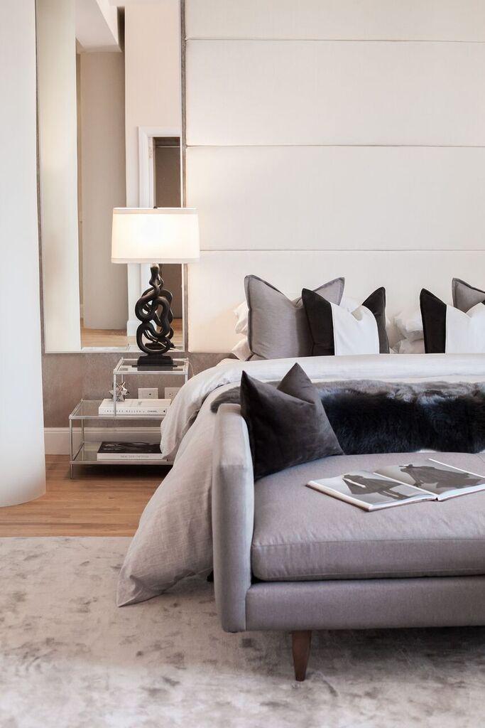 Stylish bedroom decor, mid-century and modern lighting ...