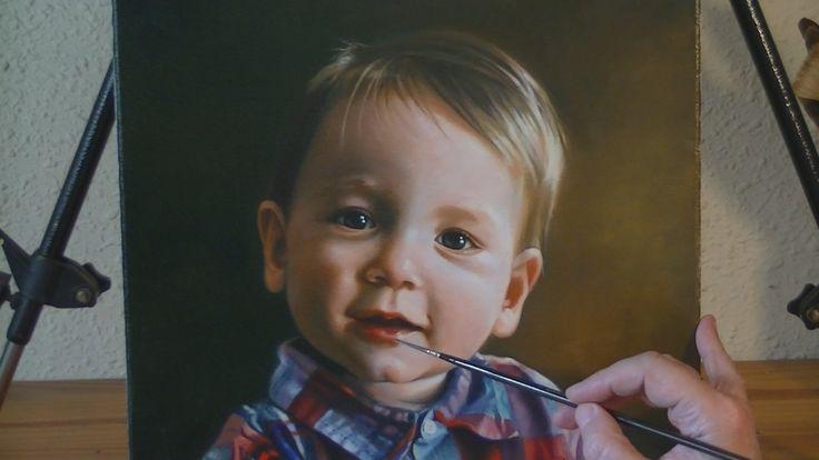 Como se pinta el retrato de un bebé.