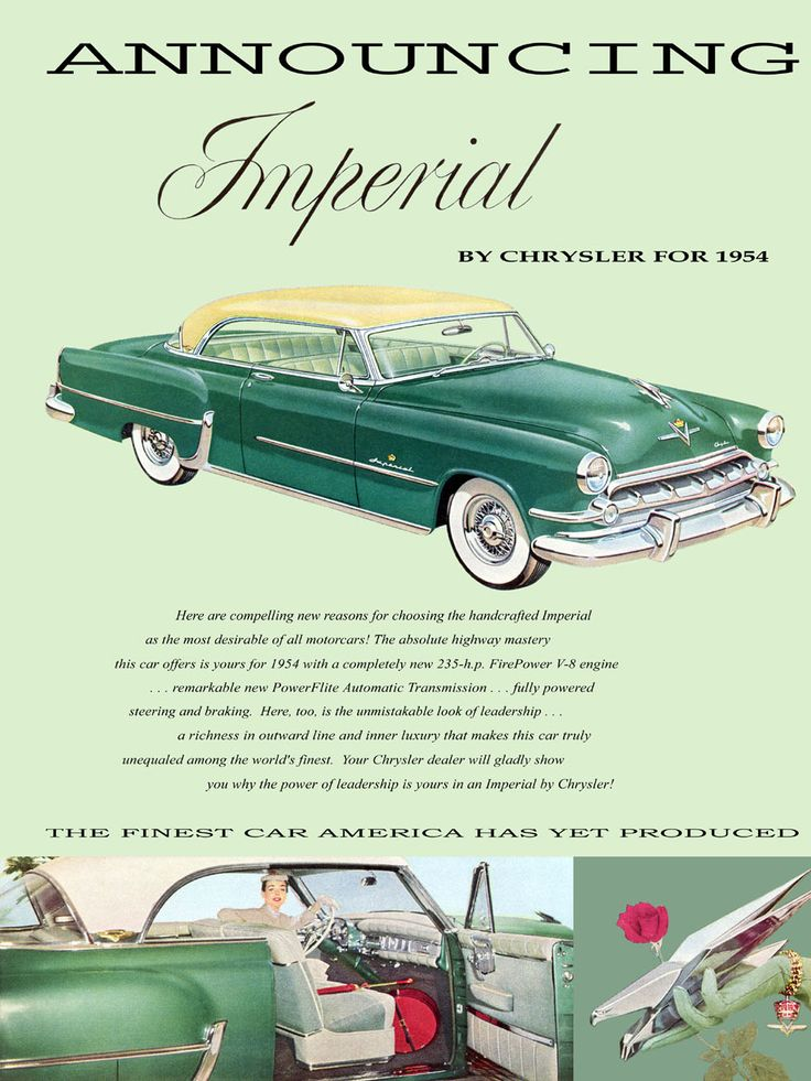 9 best 1954 Imperial Ads images on Pinterest | Chrysler imperial ...