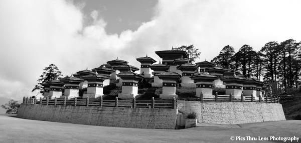The #108 stupas (chortens in #Bhutanese) on #Dochula Pass, en-route to #Punakha from #Thimphu
