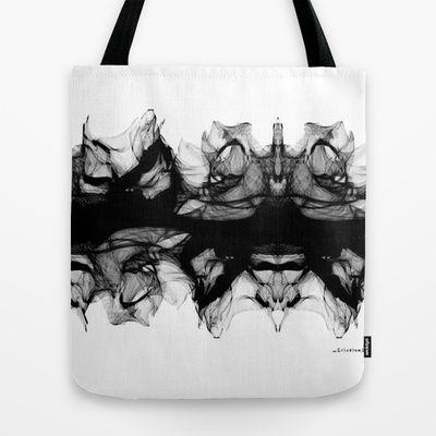 Humo Blanco Sobre Fondo Negro Tote Bag by Cristina Lobo - $22.00
