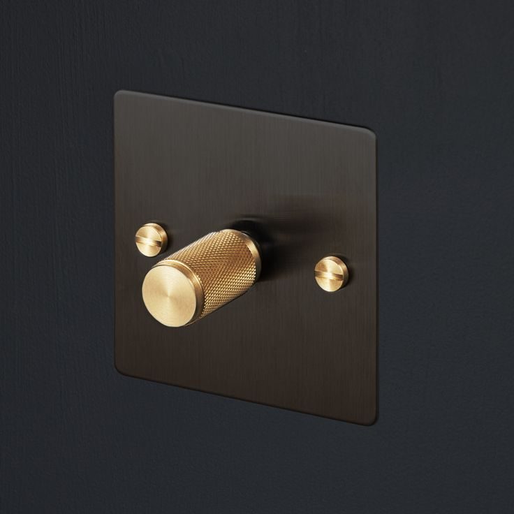 Light Switches - Smoked Bronze & Brass