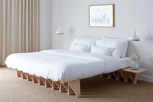 Scandinavian Mod Jo Beech Wood Bed
