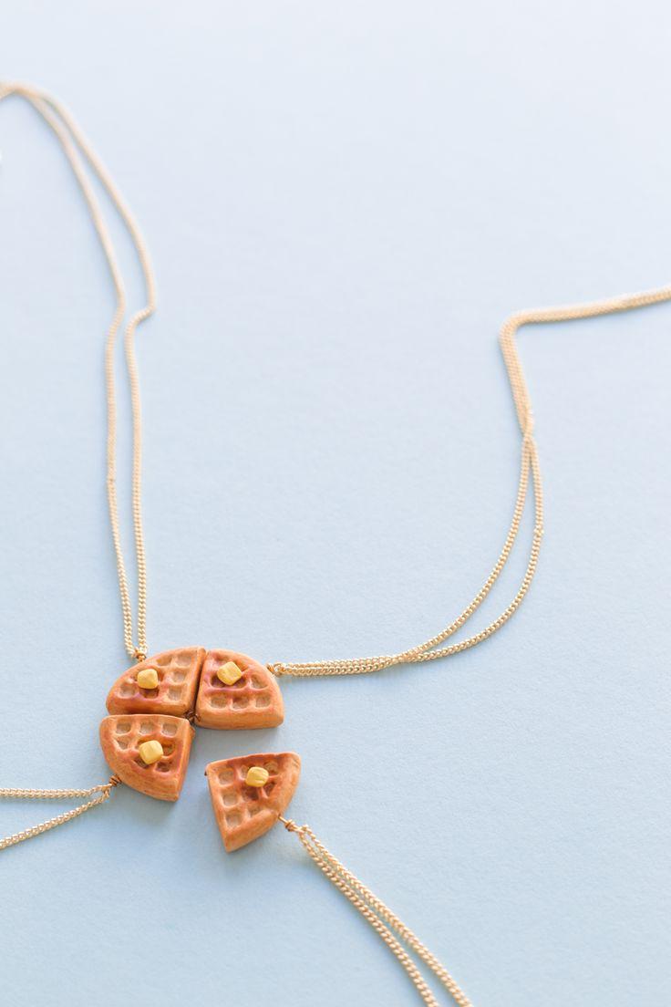 DIY Waffle Friendship Necklaces