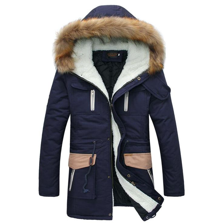 >> Click to Buy << 2015 New Fashion Keep Warm Long Coat Mens Winter Jackets And Coats Thick Fur Collar Winter Coat Men Trend Hooded Parka #Affiliate