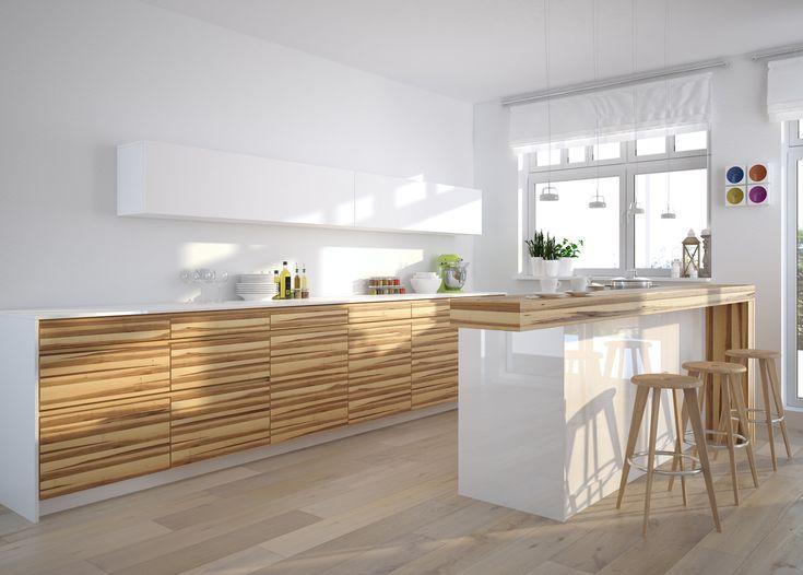 Perfect Die moderne Holzoptik ist eine reizvolle und g nstige Alternative zur klassischen Echtholzk che Alle K chenbilder