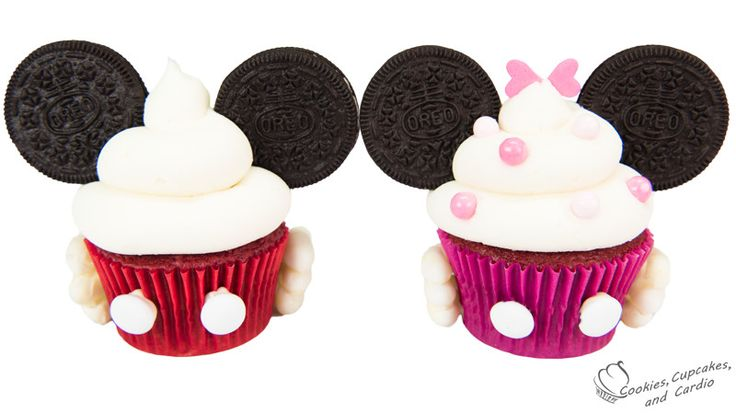 Mickey and Minnie Mouse Cupcakes ~ Cookies, Cupcakes, and ...