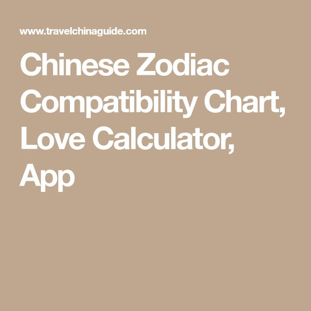Chinese Zodiac Compatibility Chart, Love Calculator, App