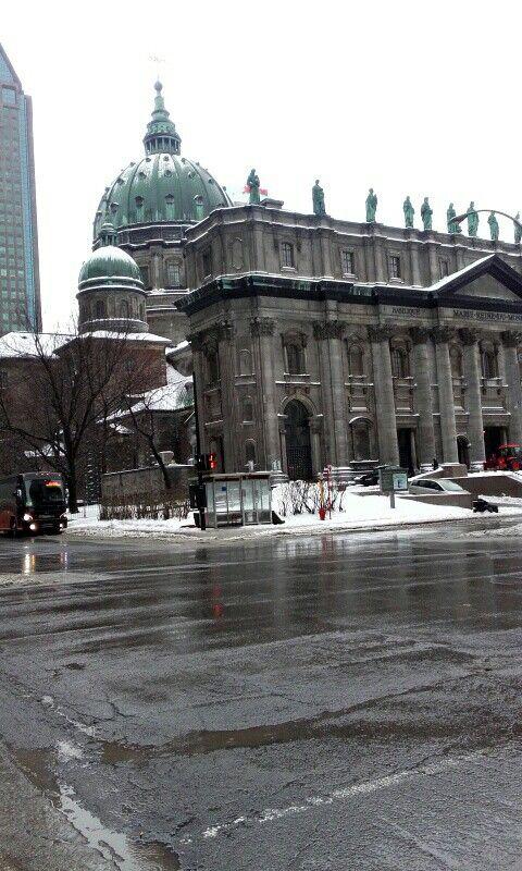 Montréal une ville sympathique et enneigé ❄👌😍💖😏
