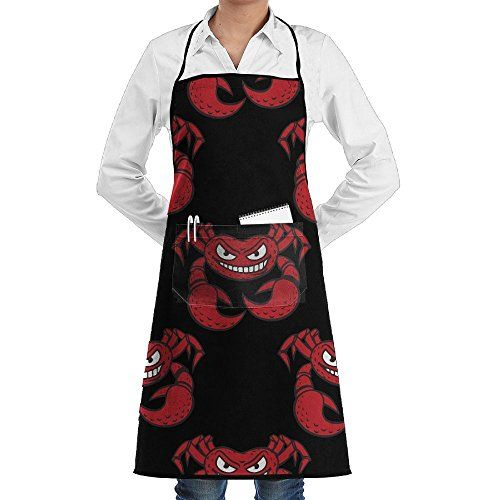 Unisex Kitchen Aprons Angry Red Crab Cartoon Chef Apron Cooking Apron Barbecue Aprons #Unisex #Kitchen #Aprons #Angry #Crab #Cartoon #Chef #Apron #Cooking #Barbecue