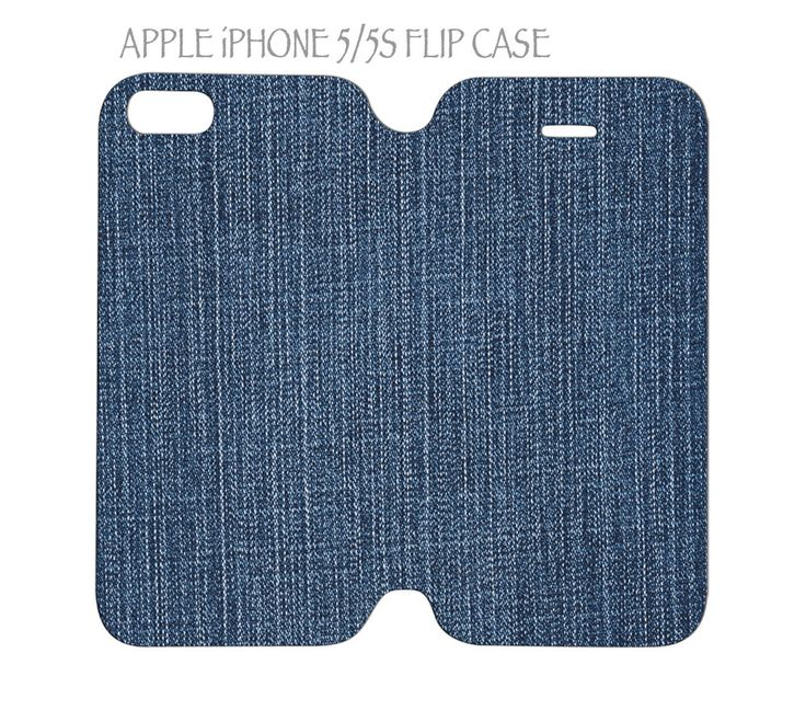 iPhone 5 / 5s Flip Case Folio Cover Jeans Denim Fabric Pattern #QuinnCafe