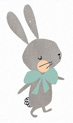 easter, bunny, rabbit, cute, illustration, paper cut, drawing, colour